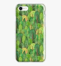 Watercolor forest iPhone Case/Skin