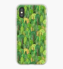 Watercolor forest iPhone Case