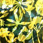 """Lemon and Green Flower Pattern by Belinda """"BillyLee"""" NYE (Printmaker)"""