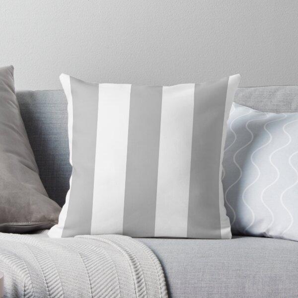 Silberne graue und weiße Streifen Dekokissen
