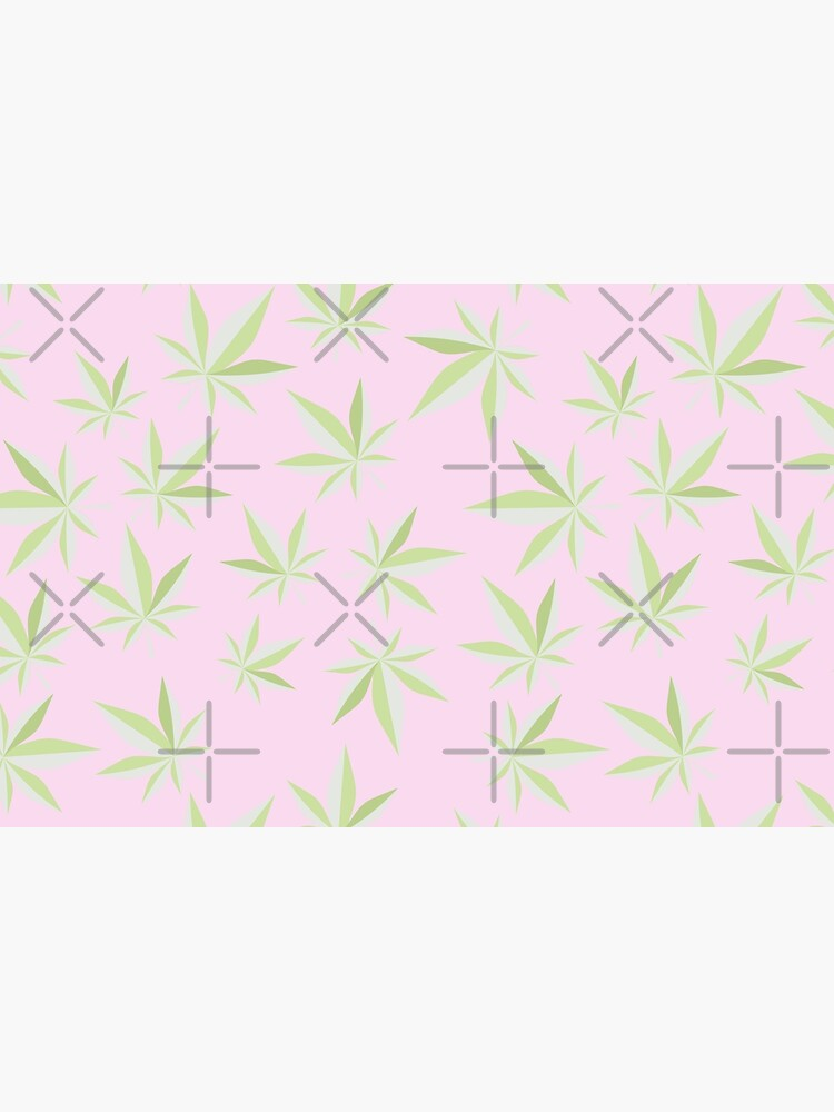 Pastel Pink Cannabis Leaf by RadicalLeaf