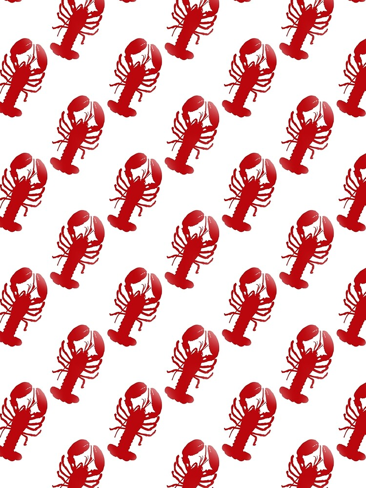 Red Lobster Repeating Pattern by TammyWinandArt