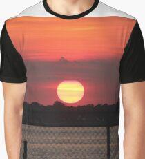 Island Park Big Sun Ball Sunset Graphic T-Shirt