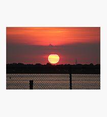 Island Park Big Sun Ball Sunset Photographic Print