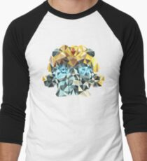Bumblebee Portrait with Triangles Men's Baseball ¾ T-Shirt