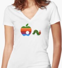 Very Hungry for Apple Women's Fitted V-Neck T-Shirt