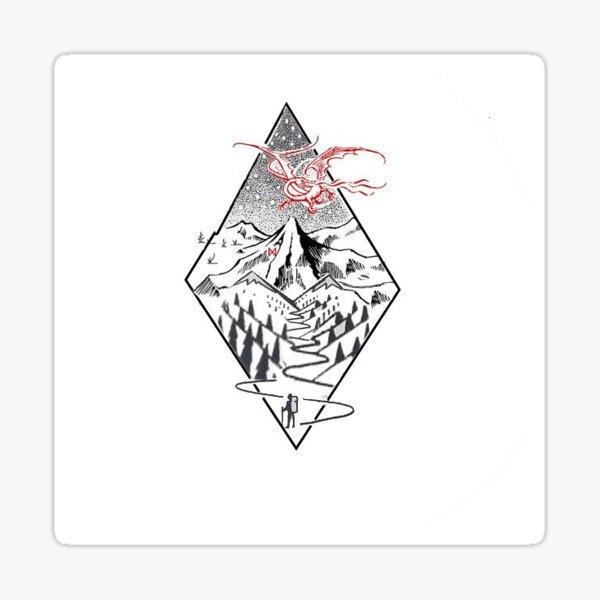 The Misty Mountain & Smaug Sticker
