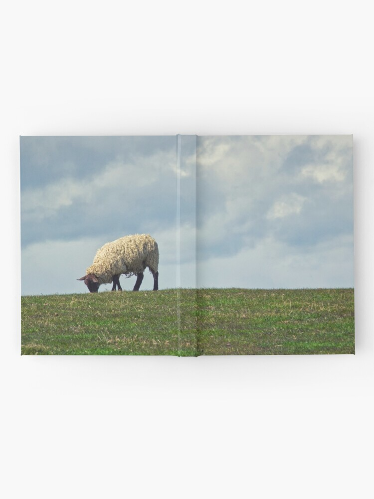 Alternate view of Sheep on the Hill Hardcover Journal