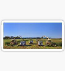 Corn harvest in Oregon Sticker