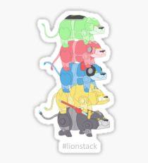 Lion Stack Sticker