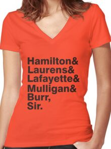 The Hamilton Crew Women's Fitted V-Neck T-Shirt