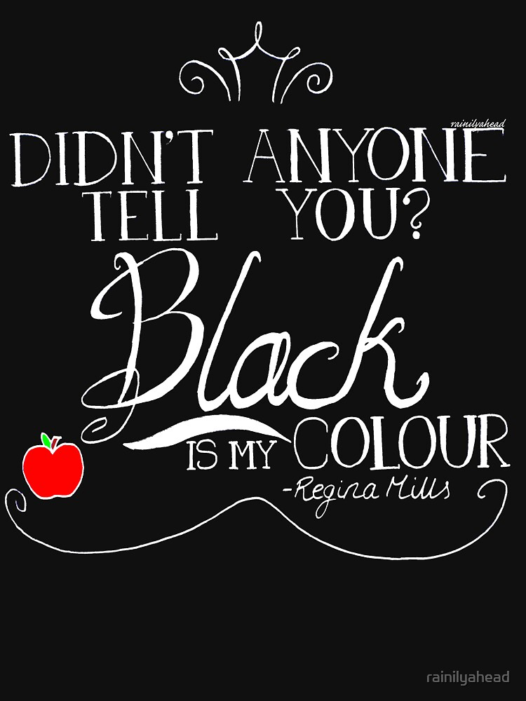 Black is my colour (white font, English spelling) | Unisex T-Shirt