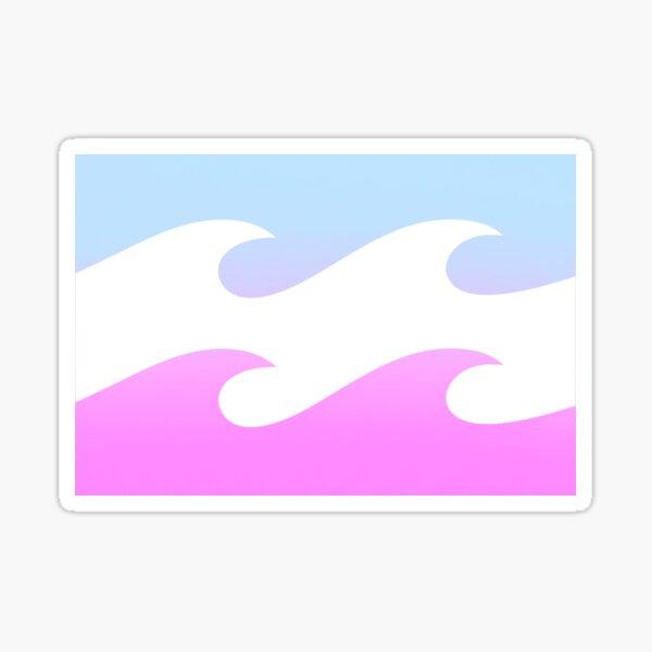 Adhesivo BIllabong: ombre azul y rosa Pegatina
