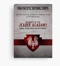 Jeager Acadamy Graduate Certificate  Canvas Print