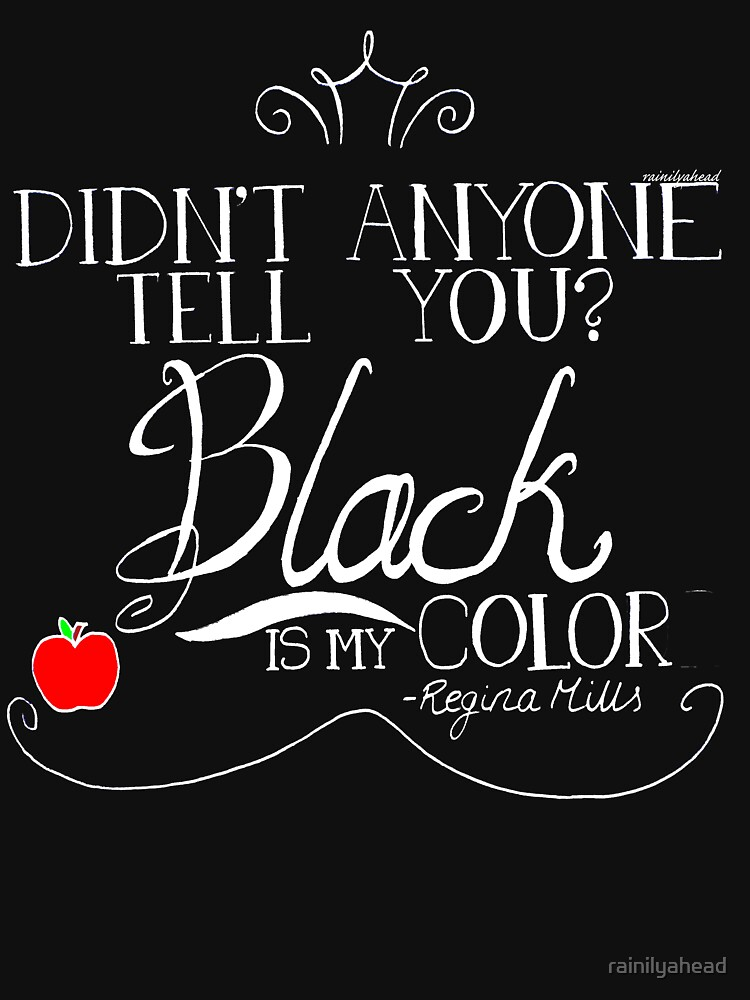 Black is my color (white font, American spelling) | Unisex T-Shirt