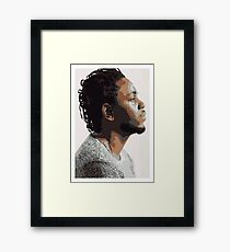 KENDRICK LAMAR - PORTRAIT ILLUSTRATION  Framed Print