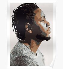 KENDRICK LAMAR - PORTRAIT ILLUSTRATION  Poster