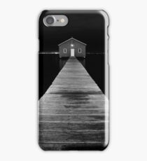 Boat Shed at Night iPhone Case/Skin