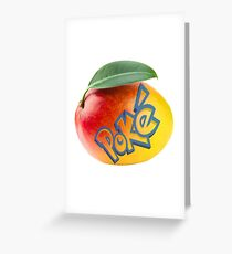 PokeMANGO Greeting Card