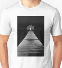 Boat Shed at Night Unisex T-Shirt