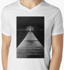 Boat Shed at Night Mens V-Neck T-Shirt