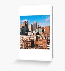 Tarjeta de felicitación NYC Rooftops
