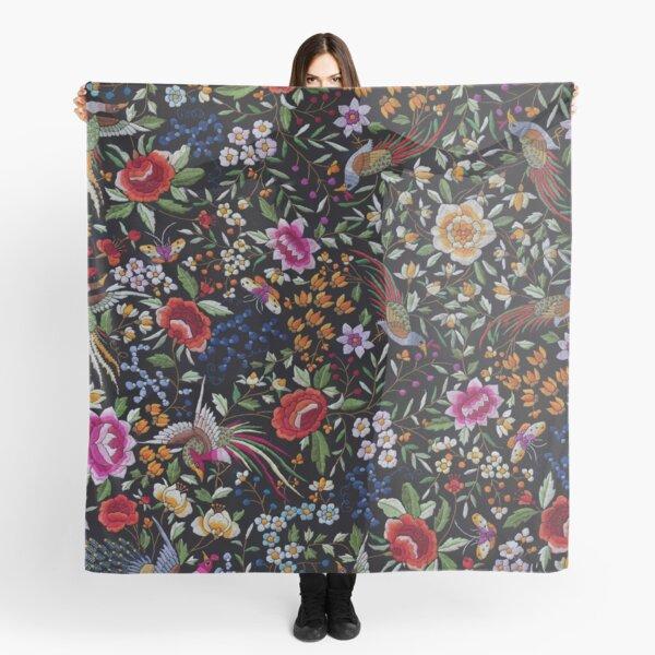 Spanish flamenco manton shawl motif Scarf