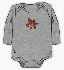 Red & Yellow Tulips One Piece - Long Sleeve