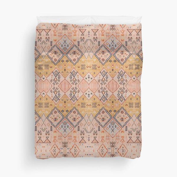 Mustard Yellow Oriental Heritage Boho Traditional Moroccan Desert Style Duvet Cover