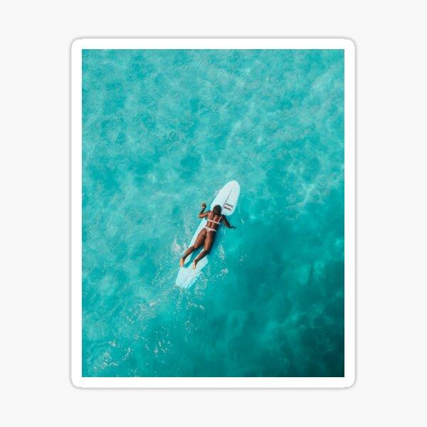 SURFER GIRL ON OCEAN Sticker