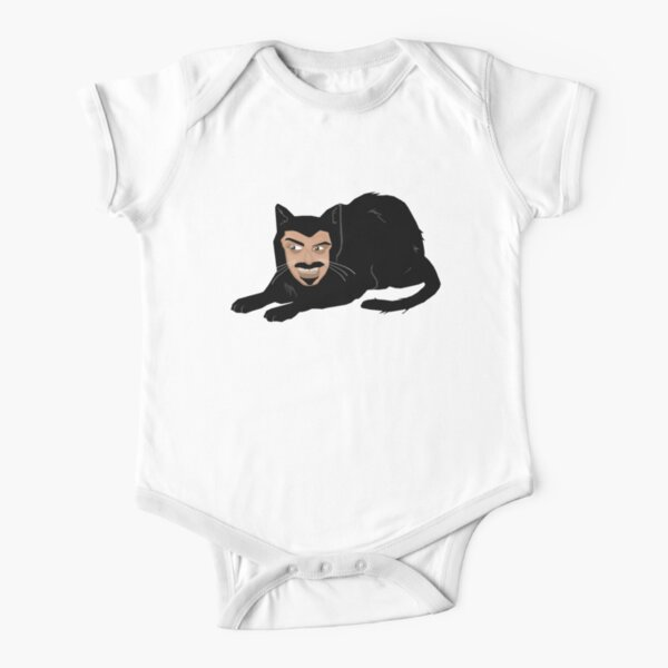 Vlad the Cat (Green) Short Sleeve Baby One-Piece