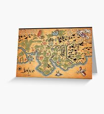 Johto Map Greeting Card