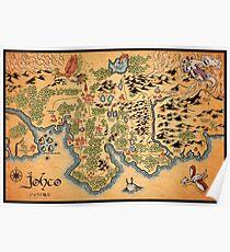 Póster Mapa de Johto
