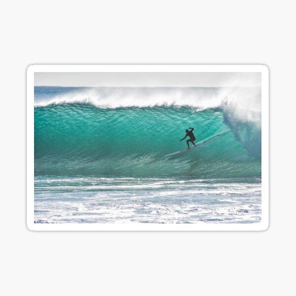 MAN SURFES  THE WAVES Sticker