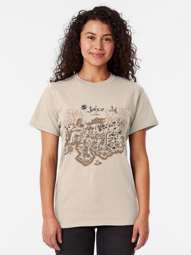 Alternate view of Johto Map Classic T-Shirt