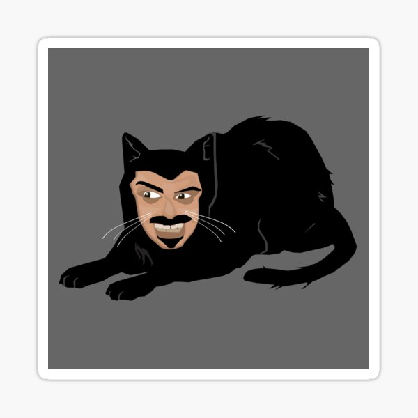 Vlad the Cat (Gray) Sticker