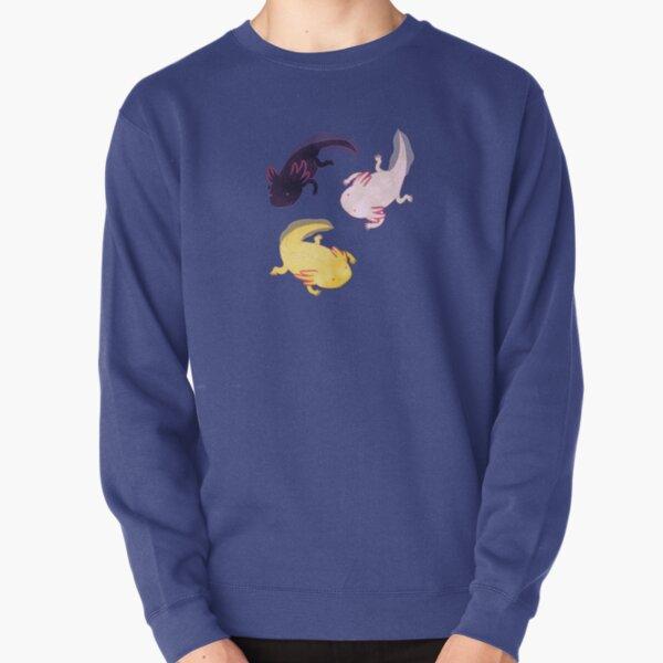 Axolotl Pattern Pullover Sweatshirt