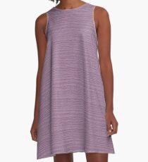 Lavender Herb Wood Grain Texture Color Accent A-Line Dress