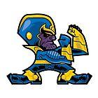 Fighting Thanos by Biez
