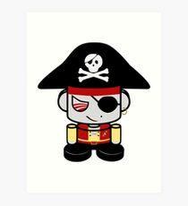 Pirate O'BOT 1.0 Art Print