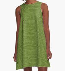 Peridot Wood Grain Texture Color Accent A-Line Dress