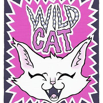 Wild Cat - pink version by blacklilypie