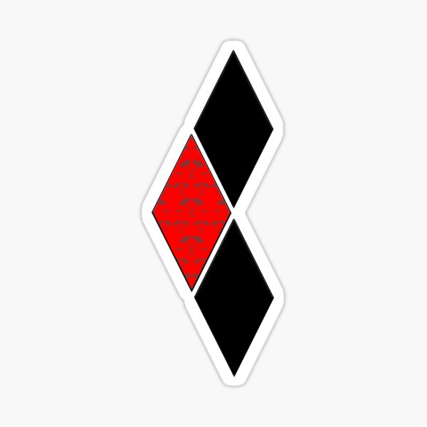 Harley Hammer Diamonds (Red) Sticker
