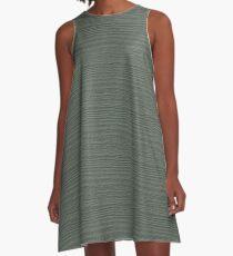 Sea Spray Wood Grain Texture Color Accent A-Line Dress