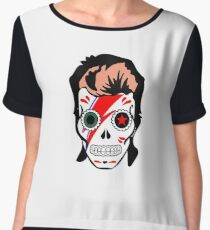 skull of bowie Chiffon Top