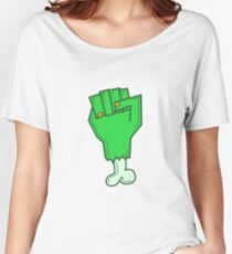 GREEN FIST BONE Women's Relaxed Fit T-Shirt