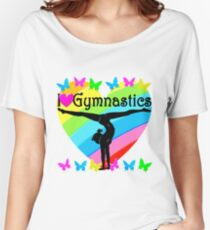 PRETTY HEART I LOVE GYMNASTICS DESIGN Women's Relaxed Fit T-Shirt