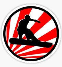 snowboard red rays Sticker