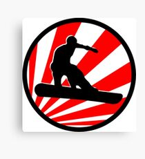 snowboard red rays Canvas Print