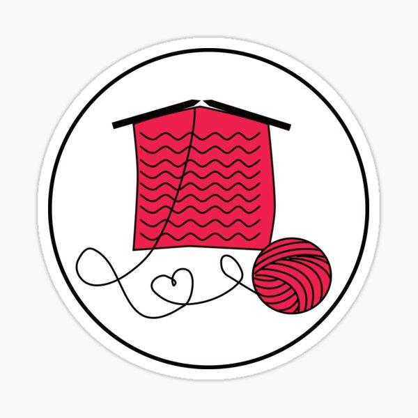 Knitting Love Sticker